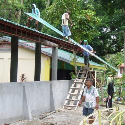 Construction de l'assembly hall